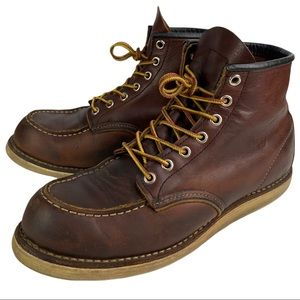 Redwing Shoes Brown Leather 8138 Lace-up Boots Men's 8 D US